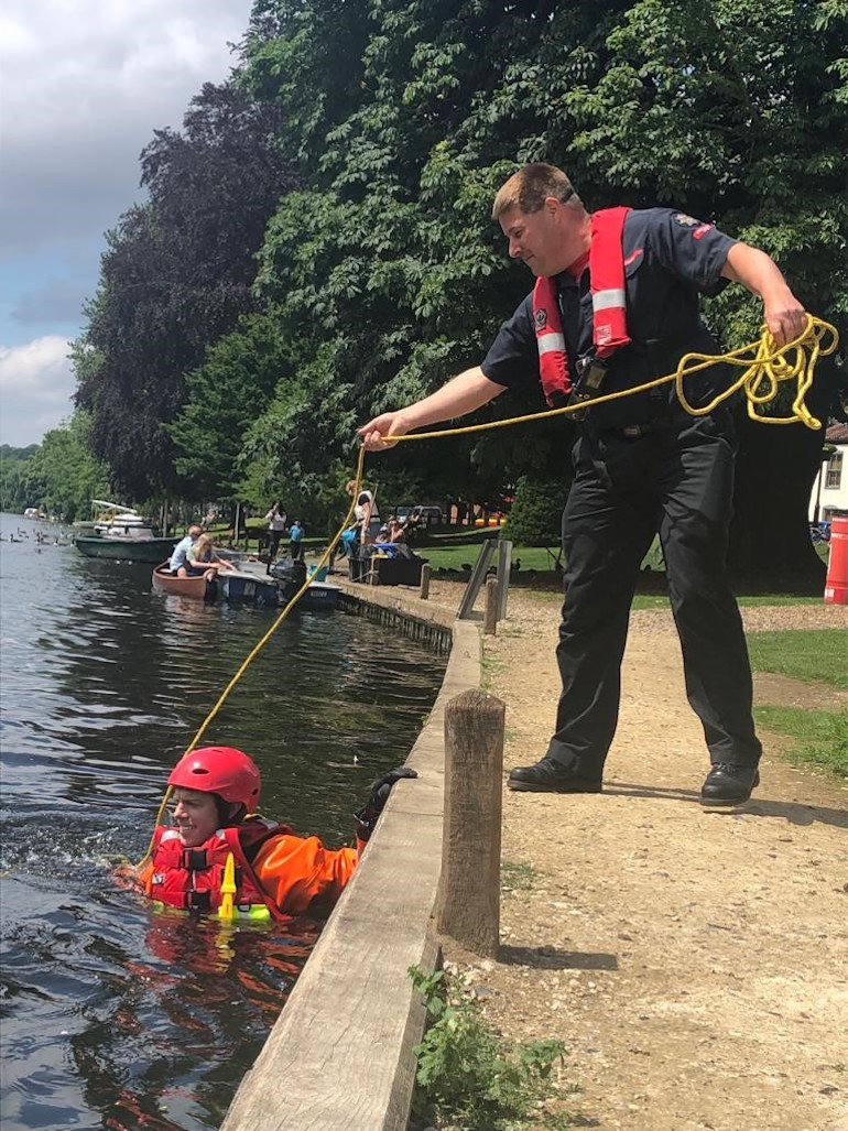 Water safety training at Thorpe St Andrew, Spring 2021.