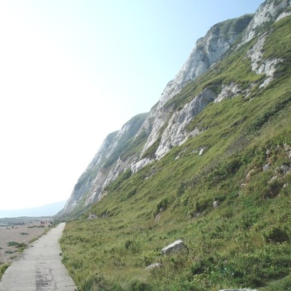 End of the path, start of the beach