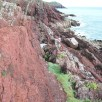 Vertical strata along coast - cliff path