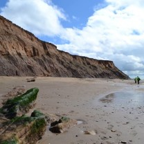Compton Bay, Isle of Wight, the coastline here is rapidly eroding and the cliffs often sheer.
