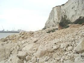 Large rock fall - east