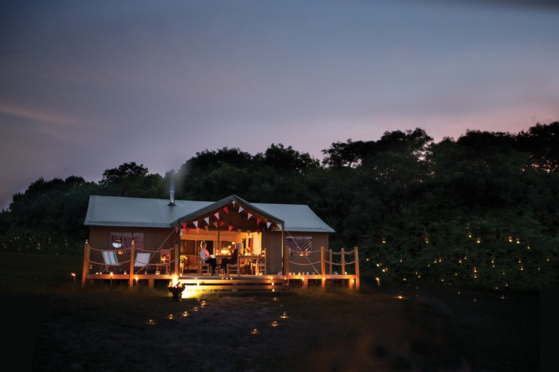 Tent-at-night