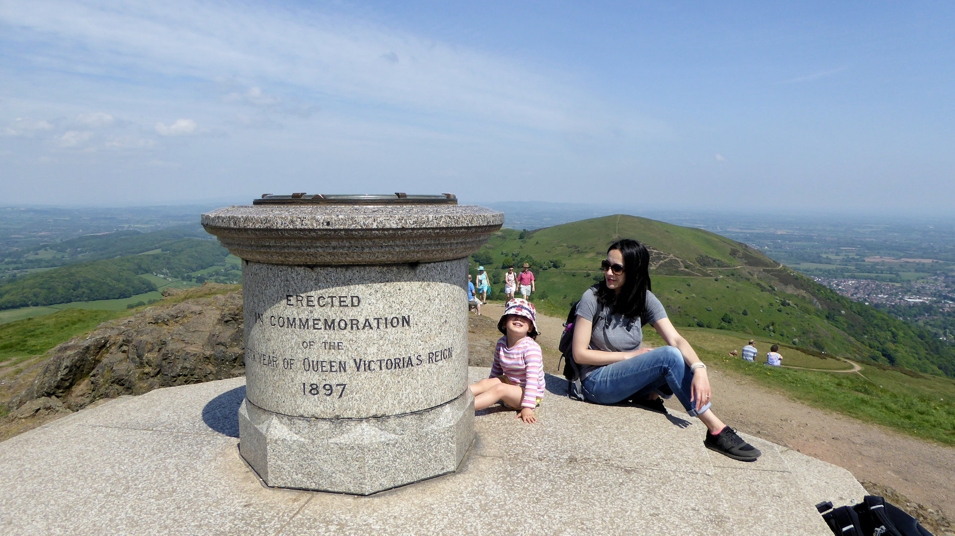 The summit of Worcestershire Beacon in the Malvern Hills