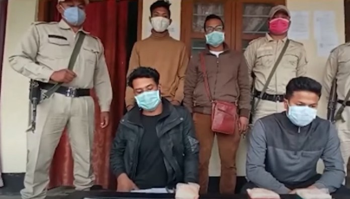 Two alleged drug peddlers arrested with drugs worth over Rs 20.50 lakh in Imphal
