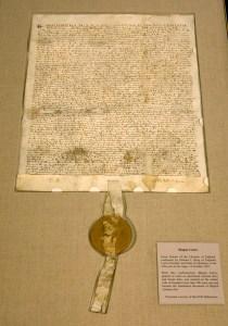 National Archives Displays An Original Copy Of Magna Carta