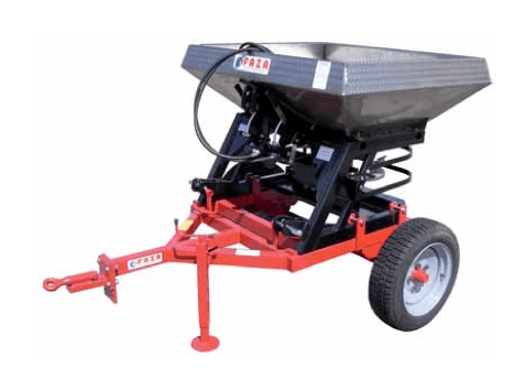 FAZA Twin spinner fertilizer – spreader disc and fans in stainless steel