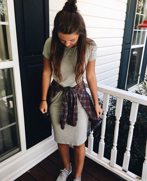 Check out this short sleeve sweatshirt dress!