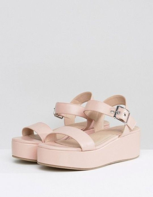 Check out these low heeled wedge sandals!