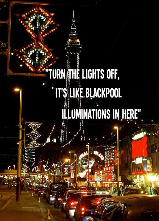 Blackpool illuminations in here