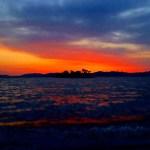 宍道湖(しんじこ)の夕景 ~国内随一の安らぎの夕陽~