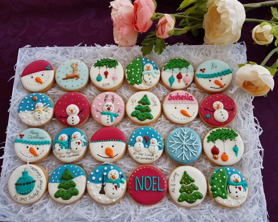 Personalised Advent calendar / 24 cookies