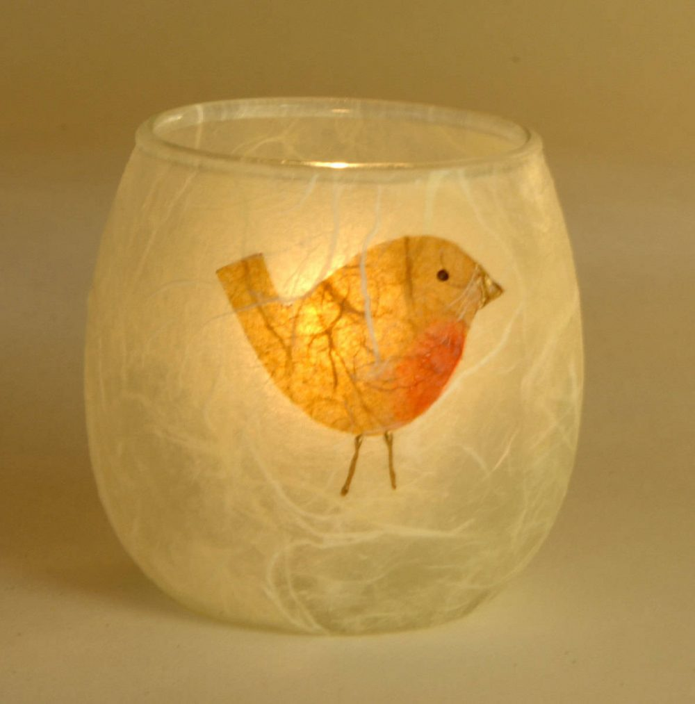 Robin candle holder