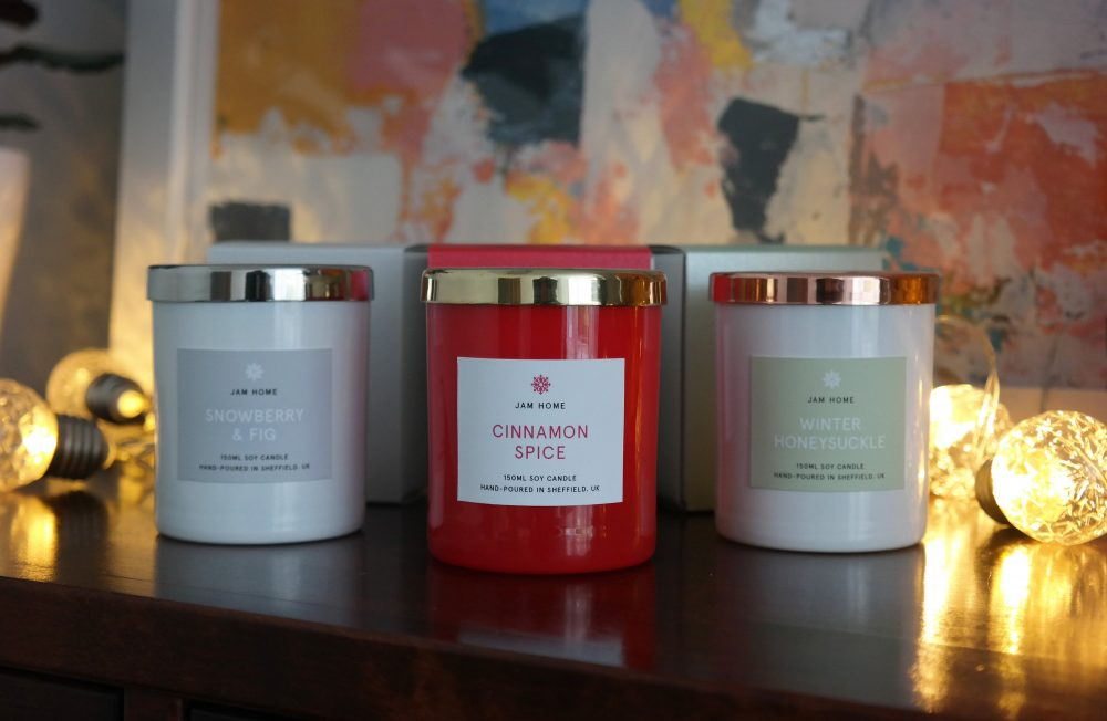 Luxury hand made Christmas candles