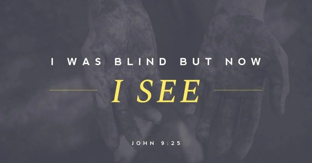 """This blind man is the human race. Therefore Christ came to illuminate since the devil had blinded us."""" – St. Augustine"""