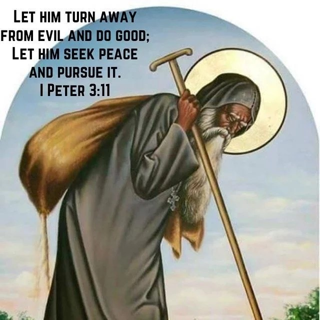 """Don't despise anyone don't judge anyone don't speak badly about anyone then the Lord will give you peace."" – Abba Poemen  #peace #coptic #orthodox #stmosestheblack"