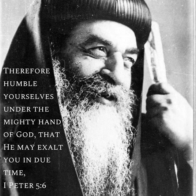 """Hold to humility for he who humbles himself will be exalted. The humble one is beloved from God and men and his appearance is terrifying to the devils."" - H.H. Pope Cyril (Kyrillos) VI  #humility #humble #God #coptic #exalted #orthodox #copticorthodox #popekyrillos"