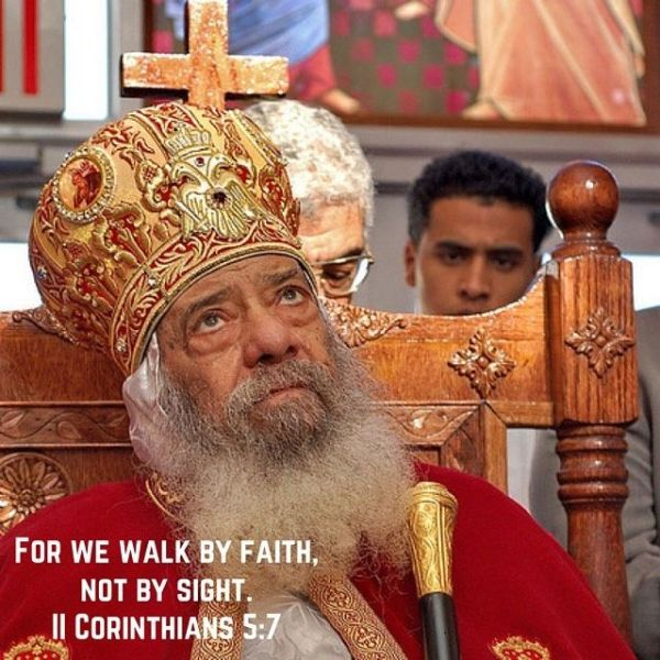 """""""God's power is able to work wonders with you but it awaits your faith"""" – H.H. Pope Shenouda III #coptic #orthodox #faith"""