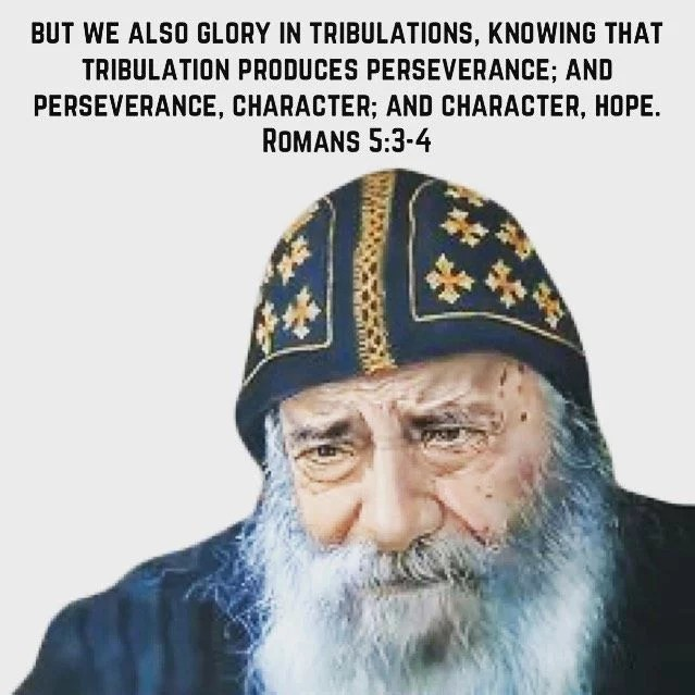 """In the life with God there are no impossibilities; there is hope whatever the sin whatever the tribulations and however difficult the matter may be."" - H.H. Pope Shenouda III #coptic #orthodox #tribulation #perseverance #hope"