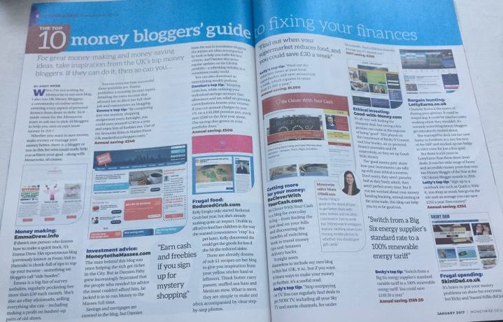 Moneywise magazine feature on UK Money Bloggers by Andy Webb