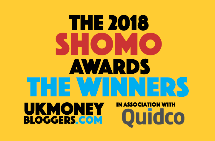 2018 SHOMO awards - UK Money Bloggers