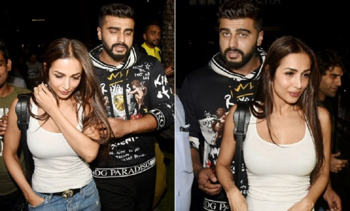 malaika arora and arjun kapoor spotted together