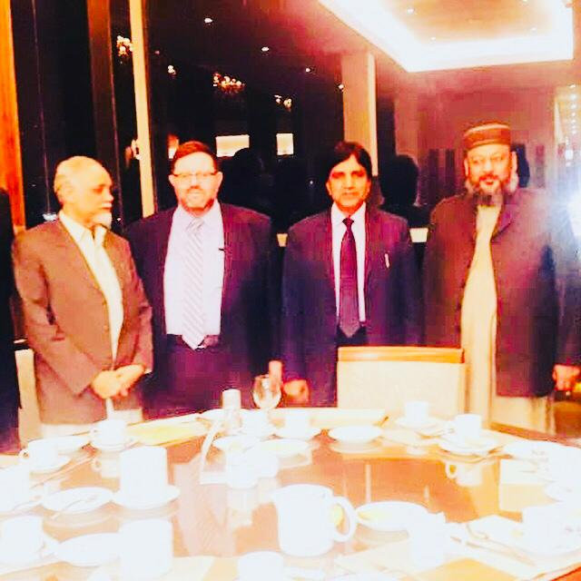 INSPAD officials Muhammad Akram Sohail, Mian Rafiq Jhagvi, Khalid Khurshid khan, Malik Saeed Awan Advocate, Mian Muhammad Attique and Ghulam M. Chaudhry.