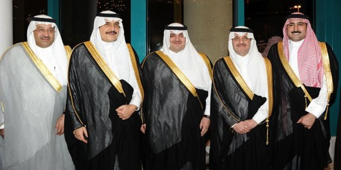 two princes, Ahmed bin Abdulaziz, brother of the Saudi king and Muhammad bin Nayef, the former crown prince
