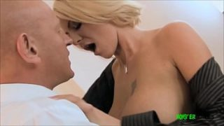 Older guy with a big cock fucks big tits scouse milf hard before cumming on her tits