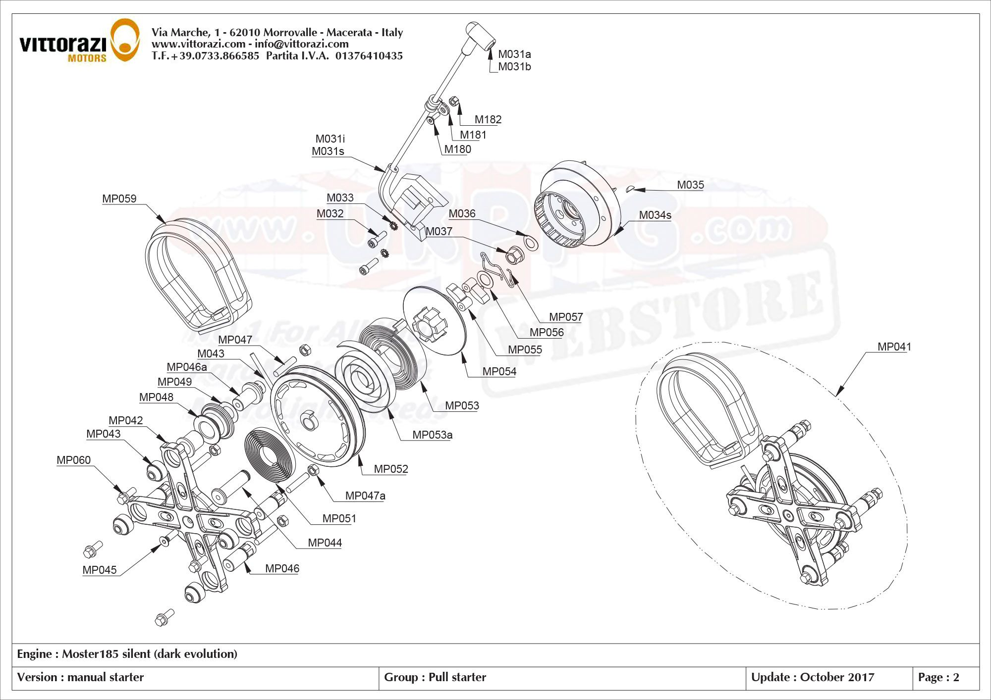 Moster 185 Silent Parts