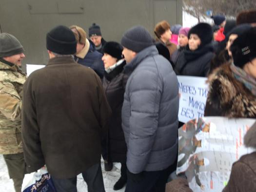 Николаевка. Блокада. Протест