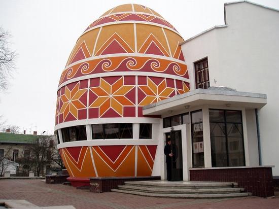 Pysanka museum, Kolomiya, Ukraine view 1