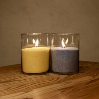 Набор 2 Свечи - Желтая и Синяя 15 см