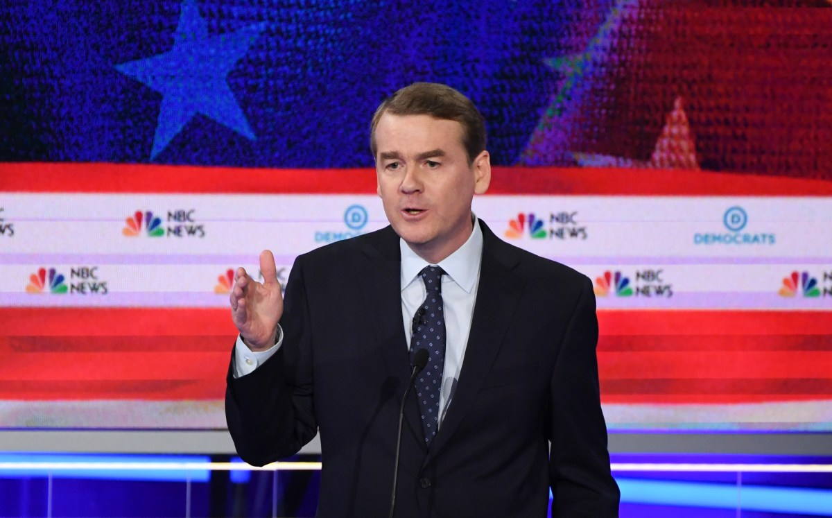 Democratic presidential hopeful U.S. Senator for Colorado Michael Bennet speaks in the second Democratic primary debate of the 2020 presidential campaign at the Adrienne Arsht Center for the Performing Arts in Miami, June 27, 2019.