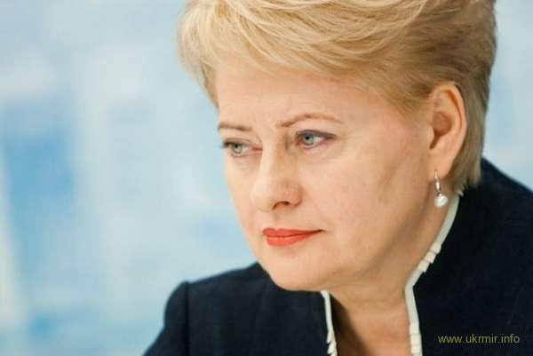 Президент Литвы Грибаускайте демонстративно проигнорировала российских журналистов. Видео