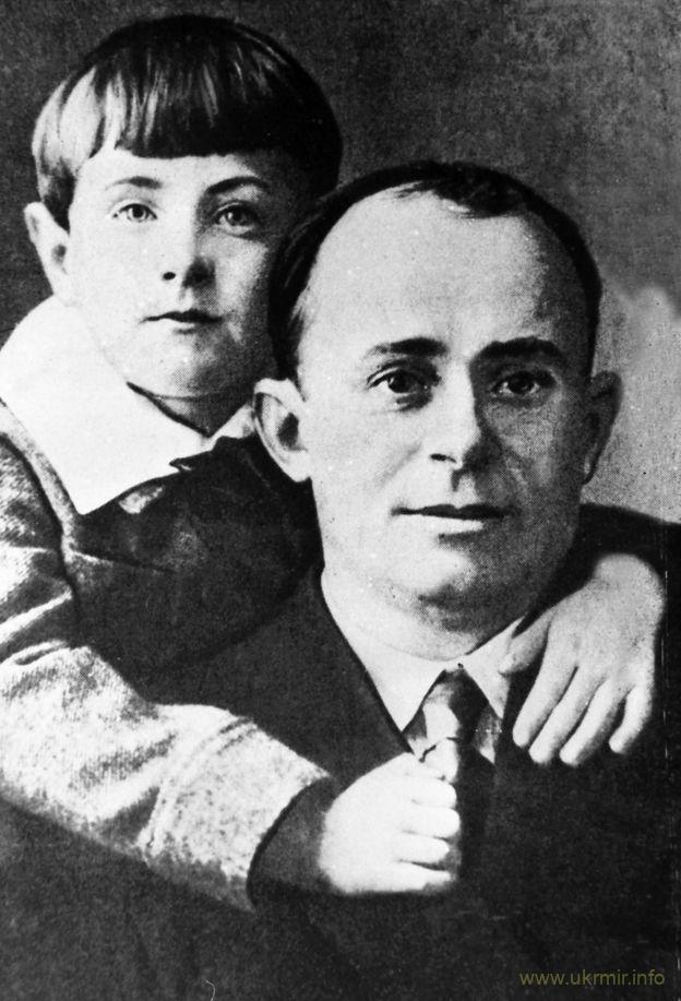 Павло Губенко із сином, 1928 рік