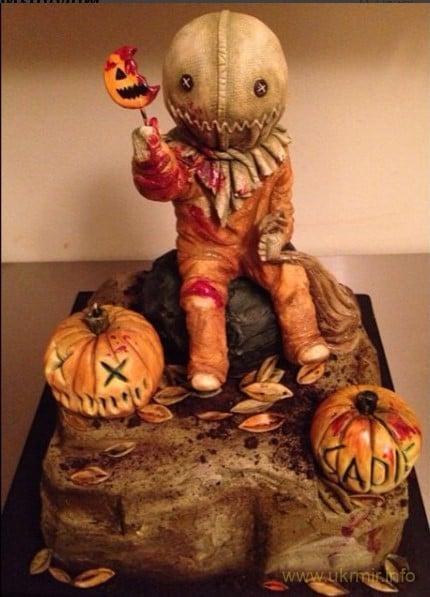 Жуткий, но вкусный торт на праздник Хэллоуина
