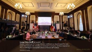 Главы МИД G7 продлят санкции против РФ за ее преступления в Украине
