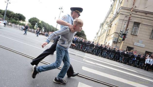 В Петербурге на акции протеста задержан особо опасный государственный преступник