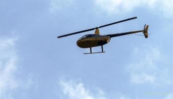 На РФ вертолет упал и загорелся в городе, есть двухсотые