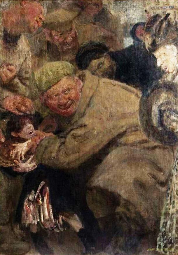 Большевики. Красноармеец, отнимающий хлеб у ребёнка