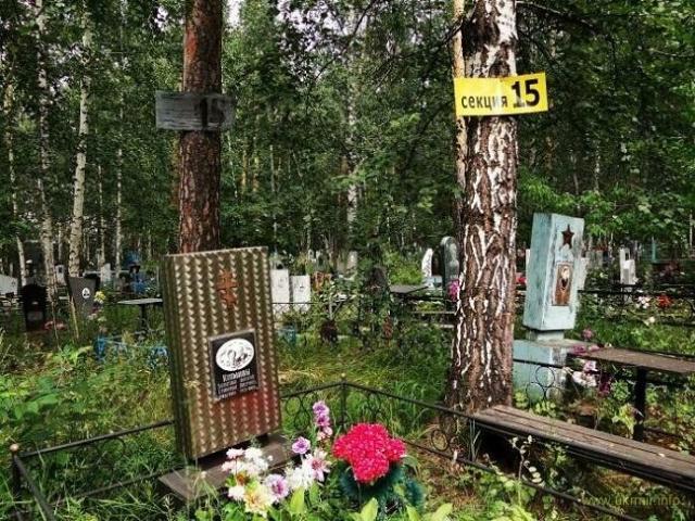 15-я секция кладбища. Здесь похоронены погибшие от сибирской язвы