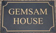 Granite house sign with line board