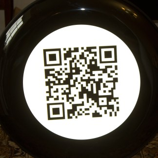 We were asked to print this QR code on a wheel cover - no words! So what is it all about?