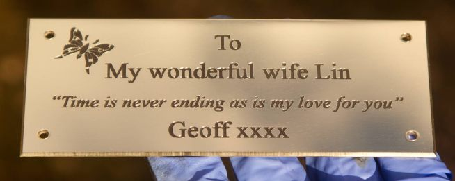 Lovely engraved black plaque