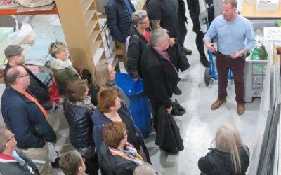 Edinburgh sign makers welcome Danish delegation