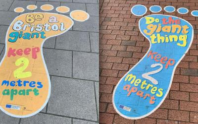 ISA-UK Member Drytac's Polar Street FX used for creative floor graphics in Bristol