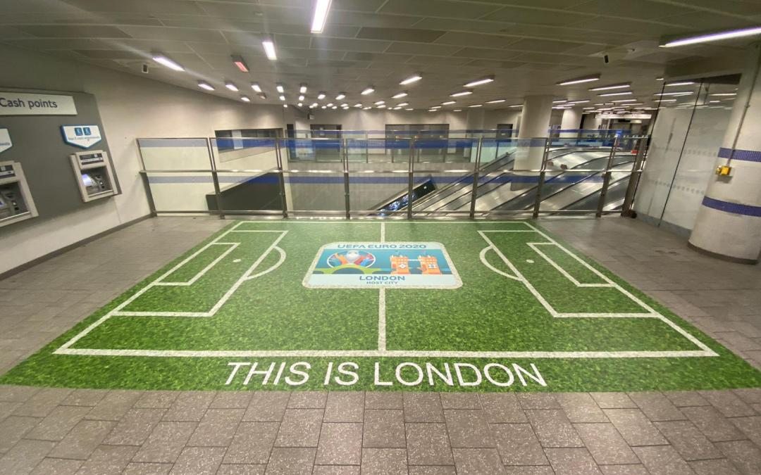 ISA-UK member Drytac and Links Signs bring football home with London Underground installations