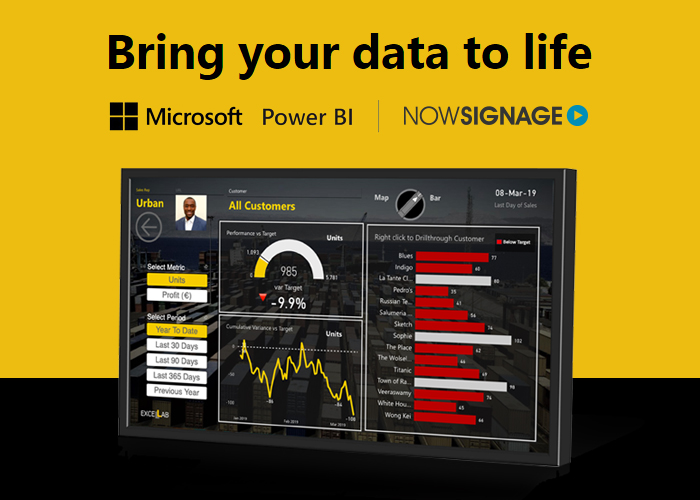 , How to display private Microsoft Power BI reports through Digital Signage