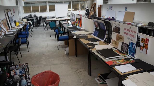 코벤트리 대학 아트&디자인 전공 강의실