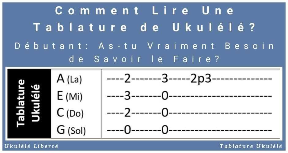 Comment Lire Tablature Ukulele ?